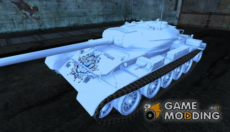 Шкурка для Т-54 Chrome (Metallic Silver) для World of Tanks