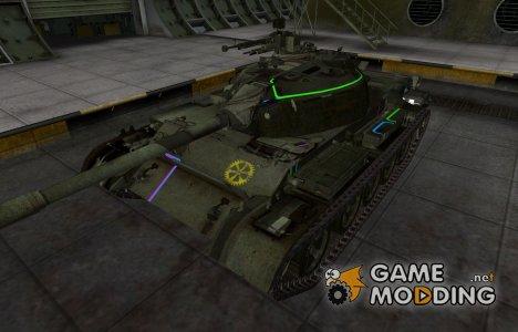 Контурные зоны пробития Type 62 для World of Tanks