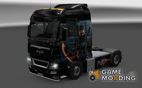 Скин Shepard для MAN TGX for Euro Truck Simulator 2