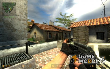 Metal Stock AK для Counter-Strike Source