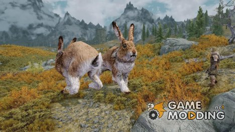 Replace Mammoths with Enormous Rabbits for TES V Skyrim