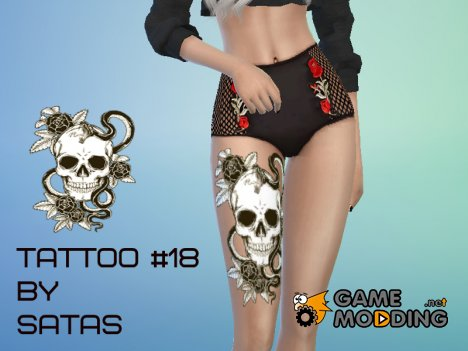 Tattoo Scull for Sims 4