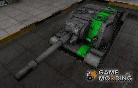 Скин для ИСУ-152 с зеленой полосой для World of Tanks