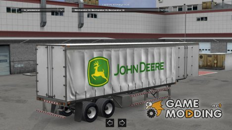 John Deere Curtain trailer для Euro Truck Simulator 2