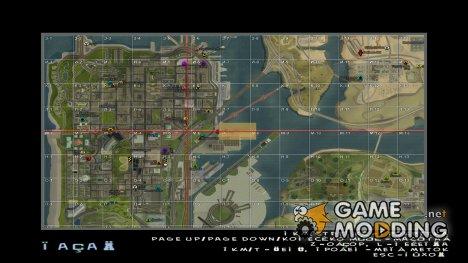 Карта с квадратами и бизнесами samp-rp for GTA San Andreas