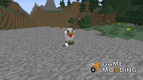 Выпадение перьев с кур. для Minecraft