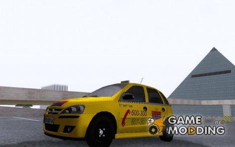 2005 Opel Corsa 1.2 16V Taxi для GTA San Andreas