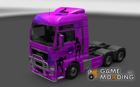 Скин Girls для MAN TGX for Euro Truck Simulator 2