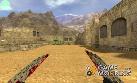 Bloody Wolverine Claws v2 для Counter-Strike 1.6