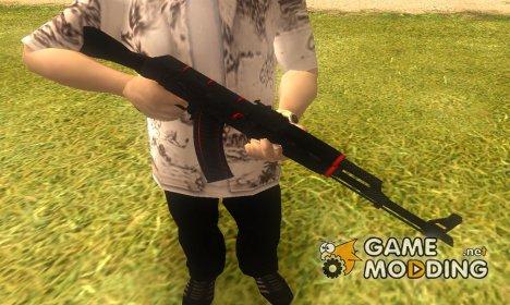 АК-47 Красная Линия из CS:GO for GTA San Andreas