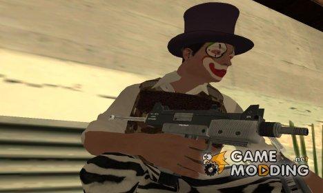 GTA V Micro SMG V2 - Misterix 4 Weapons для GTA San Andreas