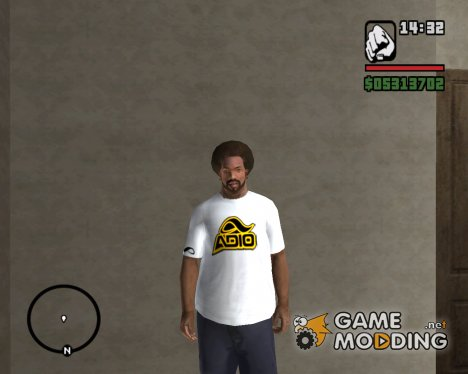 White Adio t-shirt (For Skate Lovers) for GTA San Andreas