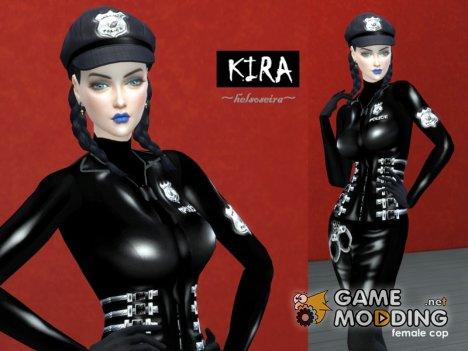 KIRA - Policewoman Cap for Sims 4