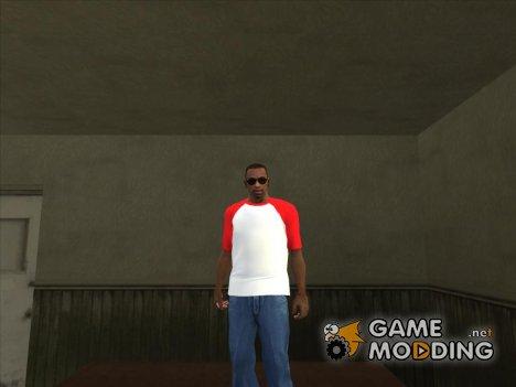 Футболка с красными плечами для GTA San Andreas