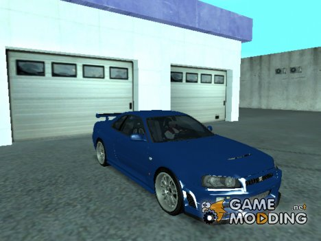 Nissan Skyline R34 Fast and Furious 4 для GTA San Andreas