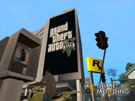 Плакат GTA V for GTA San Andreas