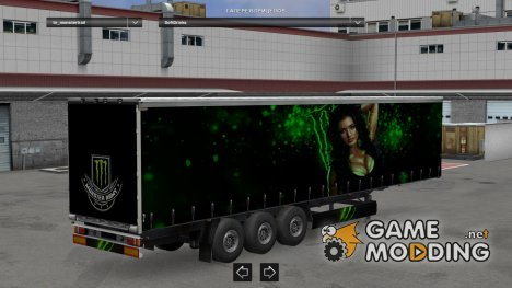 Monster Trailer by LazyMods for Euro Truck Simulator 2
