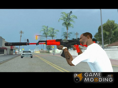 AK-47 black and red для GTA San Andreas