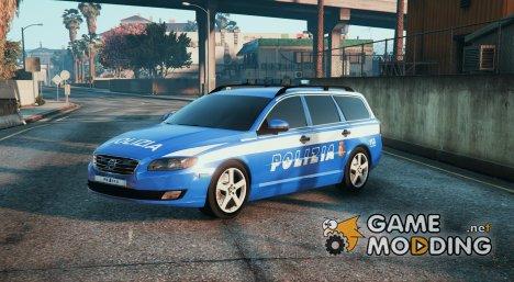 Italian Police Volvo V70 (Polizia Italiana) for GTA 5
