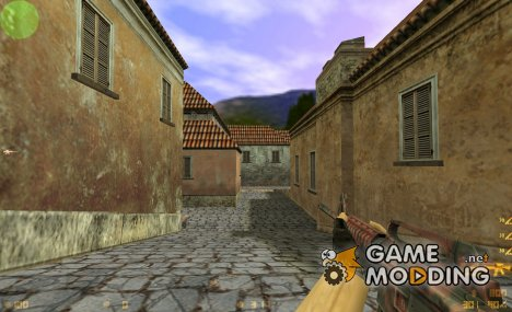 Red Tiger Camo M4A1 для Counter-Strike 1.6