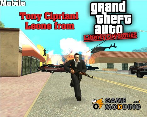 HD Mobile Tony Leone для GTA San Andreas