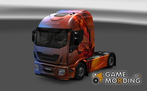Скин Dragons для Iveco Hi-Way for Euro Truck Simulator 2
