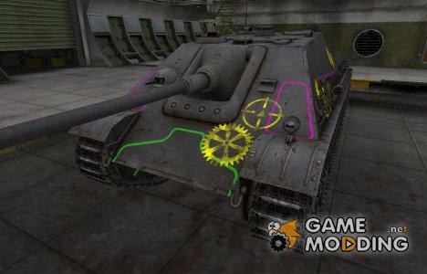 Контурные зоны пробития Jagdpanther for World of Tanks