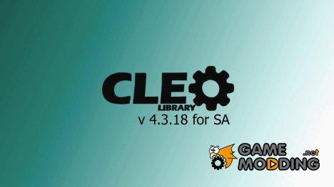 CLEO v.4.3.18 for GTA San Andreas
