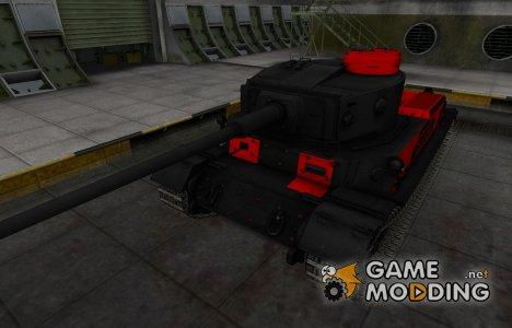 Черно-красные зоны пробития PzKpfw VI Tiger (P) для World of Tanks