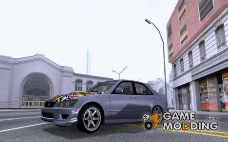 Lexus IS300 Hella Flush для GTA San Andreas