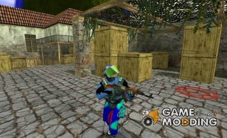 GIGN Casual Blue Skin for Counter-Strike 1.6