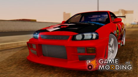 Nissan Skyline R34 Drift Monkey для GTA San Andreas