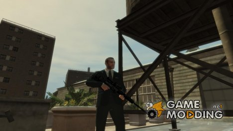 Снайперская винтовка в тёмно-синем камуфляже for GTA 4
