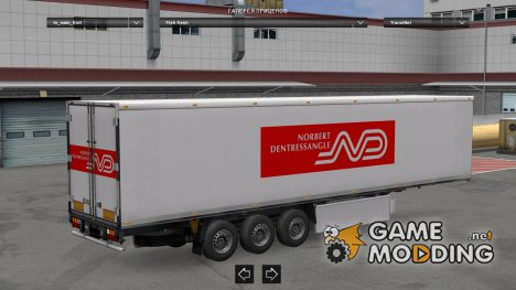 Pack Fridge trailer custom V2 for Euro Truck Simulator 2