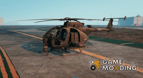 AH-6J Little Bird Navy for GTA 5