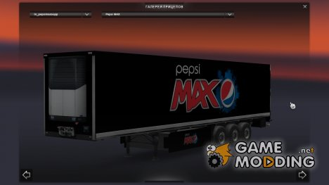 Pepsi Max Trailer для Euro Truck Simulator 2