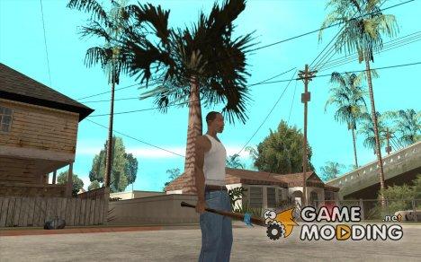 Бита с синей повязкой для GTA San Andreas