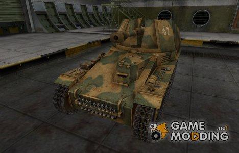 Исторический камуфляж Wespe для World of Tanks