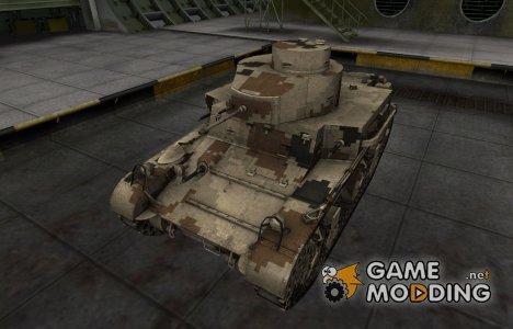 Камуфлированный скин для M2 Light Tank for World of Tanks