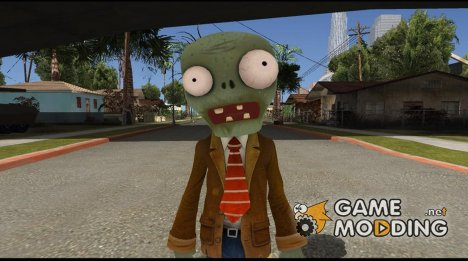 Browncoat Zombie From Plants vs Zombies Garden Warfare для GTA San Andreas