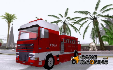 DAF XF Firetruck for GTA San Andreas