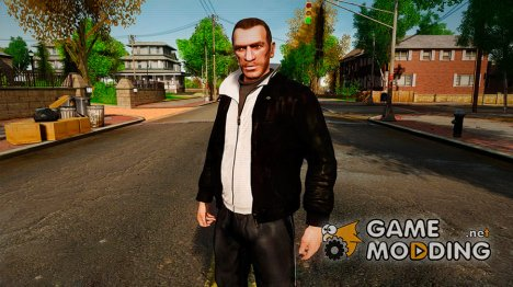 Black Leather Jacket для GTA 4