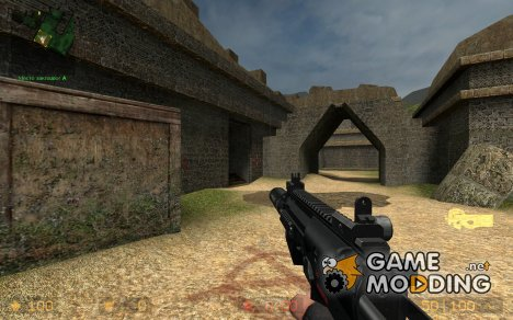 Silenced MP7 - P90 + Lucky Shot 1 handed anims для Counter-Strike Source