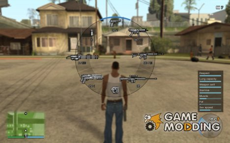 GTA V HUD Next-gen edition V0.920 BY DK22Pac for GTA San Andreas