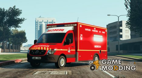 Mercedes Sprinter VSAV Cube Sapeurs-Pompiers de Paris for GTA 5