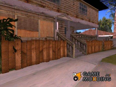 Деревянные заборы V1.2 HQ для GTA San Andreas
