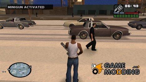 Чит-код на Миниган для GTA San Andreas