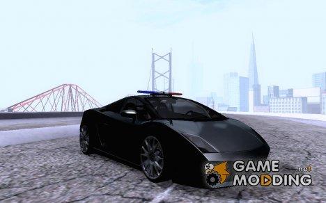 Lamborghini LP560 Police Unmarked для GTA San Andreas