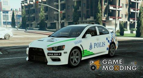 Mitsubishi Evo X Malaysian Police PDRM for GTA 5