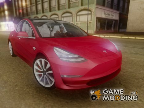 2018 Tesla Model 3 for GTA San Andreas